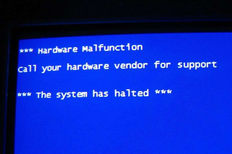 Indication of a Computer System Malfunction -